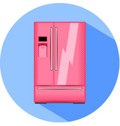 big refrigerator with water cooler kitchen vector image