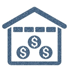 Money Depository Grainy Texture Icon vector image