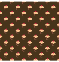 Seamless cupcake pattern texture or background vector image vector image