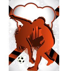soccer summer background vector image vector image