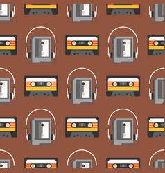 vintage technologies retro audio multimedia vector image vector image