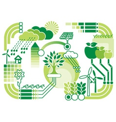 eco infographics vector image vector image