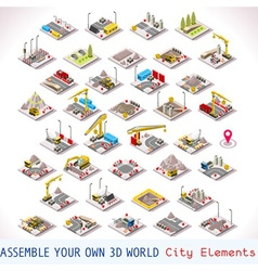 Game Set 02 Building Isometric vector image