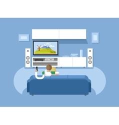 Interior home cinema vector image vector image