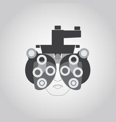 phoropter logo vector image vector image