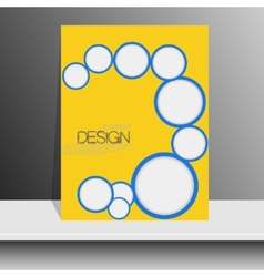 Professional flyer template or corporate banner vector image vector image