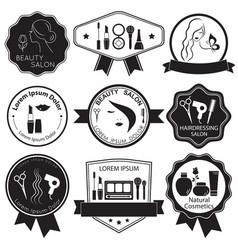 set of beauty logo templates labels badges vector image