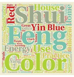 Significance of colors in feng shui practice text vector