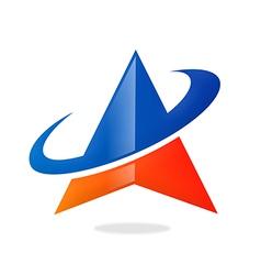 Triangle orbit business finance logo vector