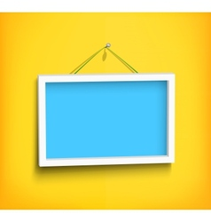 White frame on the wall vector image vector image