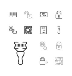 13 code icons vector