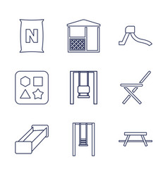 9 outdoor icons vector