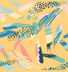 Abstract artistic seamless pattern with strokes vector
