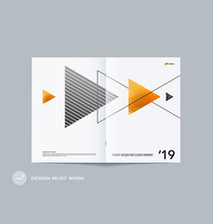 abstract double-page brochure design style with vector image