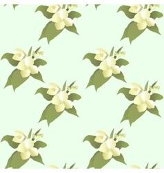 Abstract jasmine flower seamless pattern vector
