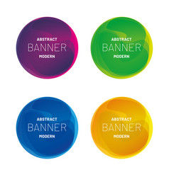 abstract modern banner collection vector image