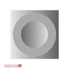 art of modern minimalistic design halftone vector image