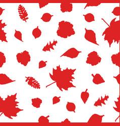 autumn seamless red ornamen vector image vector image