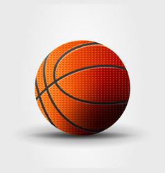 Basketball ball realistic vector
