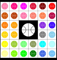 basketball ball sign felt vector image