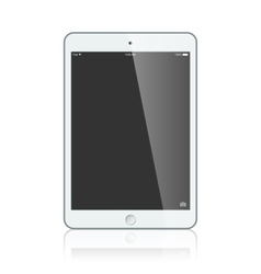 Black business ipad isolated on white background vector image