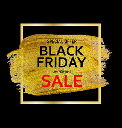 black friday sale banner template vector image
