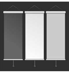 Blank Roll Up Banner Template vector