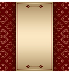 brown ornamental background with center frame vector image
