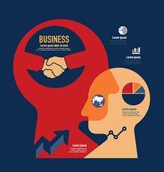 business template modern minimal flat design vector image