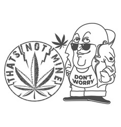 Cannabis leaves funny vector