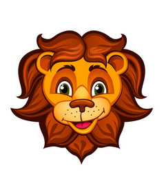 Cartoon lion head vector