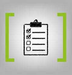 checklist sign black vector image