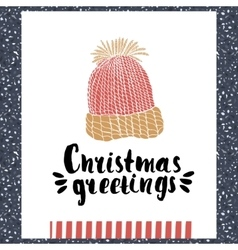 Christmas greeting - Holiday unique handwritten vector image