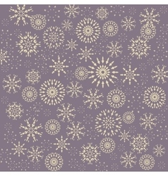 Christmas pattern Winter theme retro texture vector image