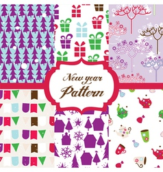 christmas patterns vector image