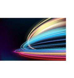 colorful light trails with motion blur effect long vector image