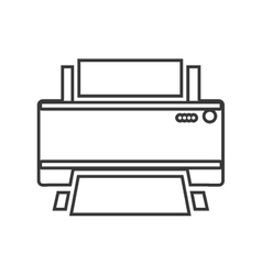 Contour color monochrome home printer vector