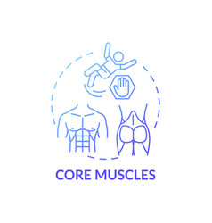 Core muscles concept icon vector