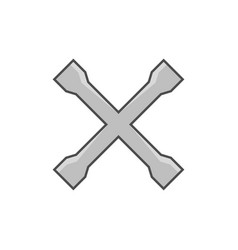 crossed car wrench icon vector image