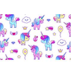 cute unicorn seamless pattern magic dream kids vector image