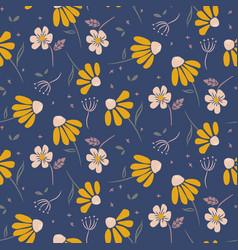 daisy flowers modern pattern seamless vector image