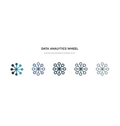 data analytics wheel icon in different style two vector image