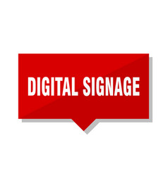 Digital signage red tag vector