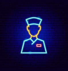 Doctor neon sign vector