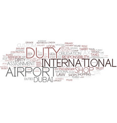 Duty word cloud concept vector