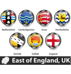East england uk vector
