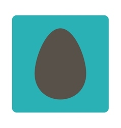 Egg flat grey and cyan colors rounded button vector
