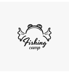 Fishing Camp Badge vector image