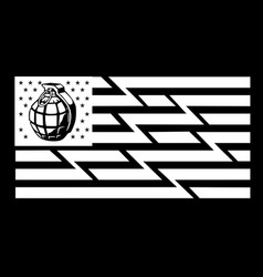 Flag american black and white vector