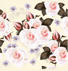 floral pattern with roses flowers vector image